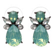 Fashion Stud Earrings Trendy Zinc Alloy Geometric Rhinestone Green Pink Crystal Earring For Women Top Quality Q2401