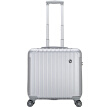 OIWAS Business Trolley Case Male Suitcase Female 16 Inch Luggage Swivel 14 Inch Computer Compartment 6197 Silver Brushed