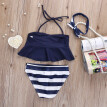 Kids Baby Girl Bikini Suit Navy 3pcs set Swimsuit Swimwear Bathing Swimming