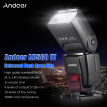 Andoer AD560 IV Pro 2.4G Wireless Universal On-camera Slave Speedlite Flash Light GN50 with Flash Trigger Color Filters Diffuser H