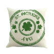 Happy green St. Patrick's day clover green hat Throw Pillow Cover Cushion Case Cotton Linen Material Decorative