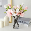 Fashion Artificial Fake Flowers Leaf Magnolia Floral Wedding Bouquet Party Decor
