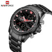 NAVIFORCE NF9138S Dual Display Two Movement Quartz Digital Men Watch 3ATM Waterproof Business Sports Luminous Male Watch Week Date