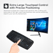 2.4G Mini Wireless Touchpad Keyboard Handheld Remote Control Keyboard with USB Receiver for Android Smart TV Laptop