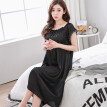 Sexy Home Style Nightdress For Women Short Sleeve Long Dress Underwear 11 Color O-neck Lingerie Night Gown