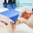 5Pcs/set 10/11/13/15/20mm Nail Art Acrylic UV Gel Extension Builder Acrylic Brush Crystal Handle Manicure Salon Tools