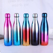 New stainless steel wine bottle shape thermos bottle travel flask Cycling bottle for water bottles bowling car kettle 500ML