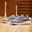 361 degrees men's shoes 2019 spring and autumn full knit sneakers casual running shoes wild shock absorption leisure non-slip shoes 671911256-1 cosmic gray / black shadow blue 39