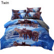 3D Wolf Twin Queen King Bed Quilt Duvet Cover Pillow Case Bedroom Bedding Set