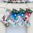 Christmas Stocking Gift Holders LED Light Up Fireplace Hanging Ornament Holiday Party Christmas Decor Supplies New Year Gifts