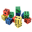 Eva Foam Dice Six Sided Spot Dice Kid Game Soft Learn Play Blocks Toy