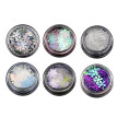 Nomeni 6 Boxes Snowflake Sequins Nail Art Decoration Glitter Set Mermaid Sparkly