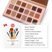 nomeni 18 Colors Makeup Concealer Palette Professional Eye Shadow + 6Pcs Makeup Brush