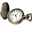 New Vintage Bronze Zodiac Pendant Pocket Quartz Pocket Watch Necklace