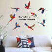 Fashion PVC Maruoxuan 3D Animal Color Parrot Stickers Refrigerator Cabinets Corridor Sofa Bedroom TV Background Decoration Wall