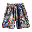 Tailored Men's Linen Shorts Sports Work Casual Printed Beach Shorts Pants Trousers