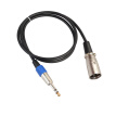 1.8/3/5/10/15/20M Stereo 6.35mm Male to XLR Male 3Pin Audio Cable Microphone Mixer Amplifier Speaker XLR Cord Wire