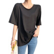 Sexy Backless Personality Loose Short-sleeved Solid T-shirt For Women Round Neck Hollow Out Summer T-shirts Trend Fashion Tops