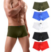 Men Sexy Underwear Letter Printed Boxer Briefs Shorts Bulge Pouch Underpants