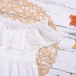Summer Baby Girls Casual Cotton Lace Off Shoulders Dress Kids Solid Color cute Princess Clothing 1-6 Years