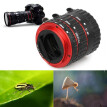 High quality Colorful Metal TTL Auto Focus AF Macro Extension Tube Ring for Canon EOS EF EF-S 60D 7D 5D II 550D Red
