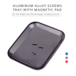 Aluminum Alloy Screws Tray with Magnetic Pad for RC Model Phone Repair Holding Screws Traxxas Hsp Redcat Rc4wd Tamiya Axial Scx10