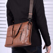 Pabojoe Durable Mens Leather Tote Messenger Bag Shoulder Briefcase