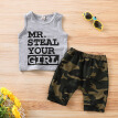 Toddler Baby Boy Clothes Vest T shirt Tops+Camouflage Shorts Pants Outfits Set summer clothes boy clothing set boutique outfits