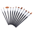 12pcs/Pack Paint Brush Kit Set Round Point Tip Nylon Hair Artist Acrylic Aquarelle Watercolor Oil Painting
