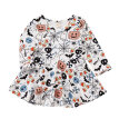 Kids Autumn Colthing Baby Girl Dress Cotton Infant Floral Print  Style Vintage Long Sleeve Toddler Dresses Birthday Baby Clothes