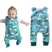 0-2T Summer Hot Sale Baby Boy Casual Jumpsuit Infant Kids  Cartoon Dinosaur Sleeveless Bodysuit Newborn Newly Fashion Clothing