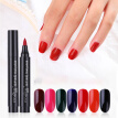 Multi Solid Colors Nail Polish Pen Long Lasting Waterproof Quick Drying Nail Art Painting Tool
