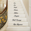 Live Laugh Love Decal Removable Wall Stickers Stair Decor