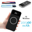 New Qi Wireless 20000mAh Power Bank 2USB LED CLD Portable Fast Charger External Battery For iPhone Android