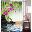 1 Digital Printed Polyester Bamboo Shower Curtain Zen Natural Bathroom Waterproof Shower Curtain Garden Theme Decoration