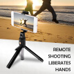 Bluetooth4.0 Selfie Stick Monopod Hand-Held Telescopic Wired Mobile Phone Holder