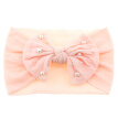 New Baby Cute Girls Boys Pearl Bowknot Design Headband Headwear Apparel Photography Prop Party Gift