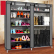 Double Row Dust-tight Shoe Cabinet Non-woven Fabrics Large Shoe Rack Organizer Minimalist Furniture Boots Storage Shelves