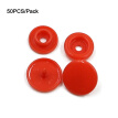 50 Sets 4 Combined Plastic Buttons 12MM Round Plastic Snaps Button Fasteners Quilt Cover Sheet Button Garment Accessories