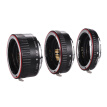Macro Extension Tube Set Copper Auto Focus AF Macro Lens Extension Tube Ring with Covers for Canon 60D 70D 80D 5DII 5DIII 5DIV 5DS