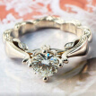 Bluelans Vintage Rhinestone Inlaid Engraved Finger Ring Women Wedding Party Jewelry Gift