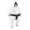 Decdeal Cute Adult Inflatable Sumo Costume Suit with Air Operated Fan Fancy Dress Halloween Party Cosplay Outfit Fat Inflatable Wr