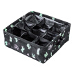 9 cactus waterproof cotton linen pantyhose storage box sundries basket home life storage green