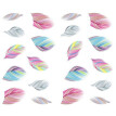 Nail Feather Art Water Transfer Decal Sticker Rainbow