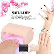 9W LED Nail Lamp Fingernail Toenail Gel Curing Nail Dryer Professional Nail Gel Machine for Nail Salon US Plug Beige