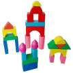 Siaonvr Kid Wooden Mini Castle  Building Blocks Geometric Shape Educational Toys Game