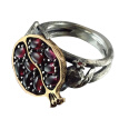 Bluelans Vintage Faux Gemstone Rattan Pomegranate Ring Women Wedding Engagement Jewelry