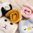 Animal Women Socks Funny Coral fleece Long Night Vintage Sleeping Socks Vogue