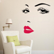 DIY Self-Adhesive Audrey Hepburn's Sexy Eyes And Red Lip PVC Wall Decor Stickers Bedroom Living Room Couch TV Background