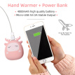 2-in-1 4000mAh Reusable Portable Silicone Hand Warmer & Power Bank For Skiing, Climbing, Hiking, Outdoors For Kids Adults